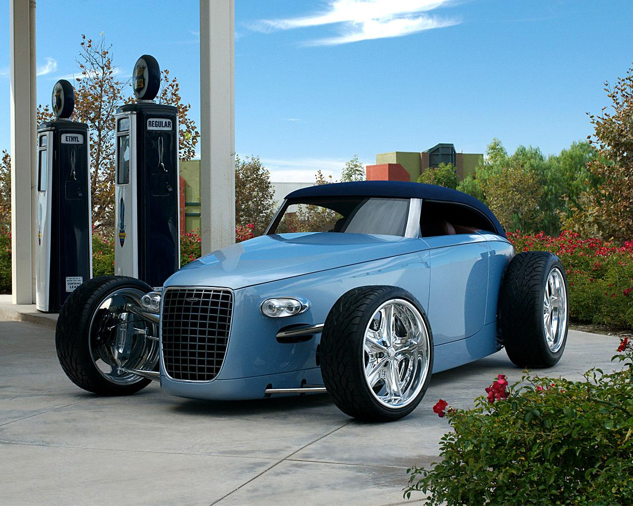 Обои Hotrod Caresto V8 Speedster