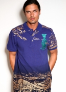 Christian Audigier. Conquest Leopard Embroidered Jersey Polo. $165