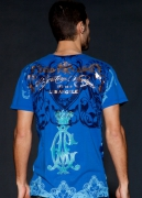 Christian Audigier. Silver Crest Specialty Crystal Tee. $119