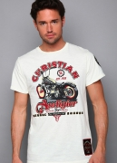 Christian Audigier. Lifted Studded Patch Specialty Tee. $119
