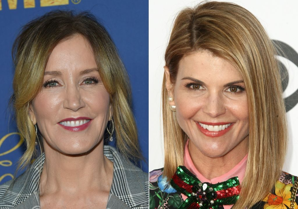 Celebrities 2019. Felicity Huffman. Lori Loughlin